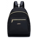 Popular Letter Pattern Waterproof Nylon Zipper Backpack 23*14*32 CM