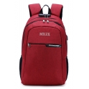Professional Letter Pattern Laptop Bag with USB Charger Casual Travel Backpack 30*18*47 CM