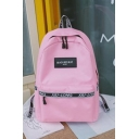 Summer Fashion Letter Patched Nylon Travel Bag School Backpack 29*13*43 CM