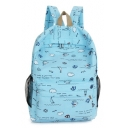 Lovely Cartoon Graffiti Printed School Bag Backpack 29*10*42 CM