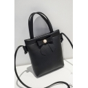 Fashion Plain Bow-knot Embellishment Mini Open Crossbody Wallet Purse 15*3*18 CM