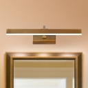 Brass Linear Sconce Light Traditional Metal Wall Light in Neutral/White/Warm for Bedroom
