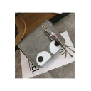 Cute Cartoon Eye Printed Tassel Embellishment Square Crossbody Bag 16*6*20 CM