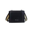 Fashion Striped Strap Square Crossbody Shoulder Bag for Women 19*5*18 CM