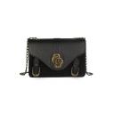 Fashion Retro Plain Belt Buckle Embellishment Crossbody Shoulder Bag 21*7.5*14 CM