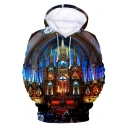 Notre-Dame de Paris New Trendy Awesome 3D Print Pullover Drawstring Hoodie