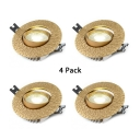 (4 Pack)Antique Style 3W Ceiling Light Fixture Living Room Hotel 3-3.5 Inch Wireless LED Light Fixture Recessed in White/Warm