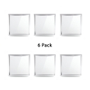 (6 Pack)Aluminum LED Flush Mount Light 12*12 Inch Square Wireless Ceiling Light Recessed in White for Dining Room Bedroom