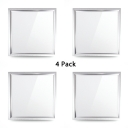 (4 Pack)23.5*23.5 Inch Square Light Fixture Recessed Wireless Slim Panel Recessed Light in White for Living Room Bathroom