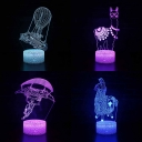 4 Pattern Design 3D Night Lamp Boy Girl Gifts 7 Color Changing LED Night Light with Touch Sensor