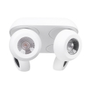 Multi Heads Round LED Down Light Angle Adjustable Flush Mount Light with White/Warm Lighting for Shop Mall