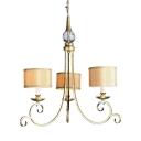 3/4/6 Lights White Drum Chandelier Antique Style Metal Ceiling Light for Restaurant Living Room