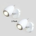 (2 Pack)White/Black LED Ceiling Light Kitchen Living Room Angle Adjustable Metal Spot Light in Warm