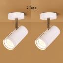 (2 Pack)Hallway Black/White LED Spot Light Angle Adjustable Wireless Ceiling Light in White/Warm White