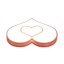 Boy Girl Bedroom Flush Mount Light White/Pink Heart Shape White/Warm Lighting/Stepless Dimming Light Fixture