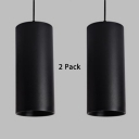 (2 Pack)Black/White/Gold LED Spot Light Long Life High Brightness Cylinder Light Fixture for Bedroom with White Lighting