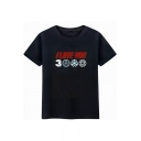 New Trendy Unique Letter I Love You 3000 Black Cotton Basic T-Shirt