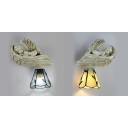 Angel Sconce Light 1 Light Resin and Stained Glass Tiffany Style Wall Lamp for Hotel Restaurant