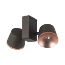 Black and Rose Gold Spot Light Modern Metal Tapered Shade LED Ceiling Light for Hotel Shop