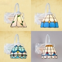Colorful Down Lighting Wall Light 1 Light Mediterranean Glass Metal Sconce for Dining Room Hotel