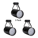 (3 Pack)Rotatable Track Lighting 1 Head Black/White Ceiling Fixture with Multi Lighting Choice for KTV Stage