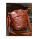 Popular Plain Leather Crossbody Bag with Cell Phone Pocket