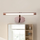 Tube Bedroom Bathroom Wall Light Metal Classic Copper Sconce Light in Neutral/White/Warm