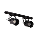 Aluminum Cup LED Ceiling Lamp Cloth Shop Rotatable 2/3/4 Heads Commercial Track Light in Black