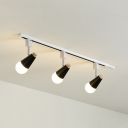 3 Lights Rotatable Track Light Simple Style Aluminum High Brightness LED Ceiling Lamp for Shop