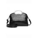 Popular Crocodile Pattern Multipurpose Crossbody Satchel Shoulder Bag Handbag 26*7*18 CM