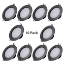(10 Pack)3/5/7W LED Recessed Light 2.5/3/3.5 Inch Black Flush Mount Recessed for Dining Room Foyer