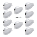 (10 Pack)3/9/12W Wireless Recessed Light 3/4/5 Inch Slim Panel Light Light Fixture in White/Neutral