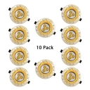 (10 Pack)European Style Flush Mount Light 2.5-3 Inch 3/5/7W Round Recessed Down Light for Living Room Office