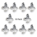 (10 Pack)Aluminum Light Fixture Recessed with Adjustable Angle and Heat Sink 5/12/20W Wireless Recessed Light in White/Warm White