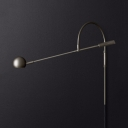 Modern Half Globe Shade Wall Light Metal 1 Light Black/Brass/Chrome Sconce Light for Bedroom Kitchen