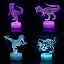 Touch Sensor 3D Night Light Boy Bedroom Gift 7 Color Changing USP Charging Dinosaur LED Bedside Light
