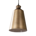 Tapered Shade Balcony Ceiling Light Metal 1 Light Vintage Style Pendant Light in Gold