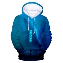 Cool King of the Monsters 3D Printed Unisex Sport Casual Blue Hoodie