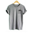 Basic Simple Letter Coffee for Life Cup Short Sleeve Cotton Tee
