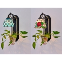 Stained Glass Tiffany Style Wall Light Dining Room 1 Light Tiffany Style Sconce Light