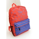 Fashion Striped Letter Printed School Backpack