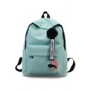 Fashion Leaf Letter Pattern School Bag Backpack for Junior 29*13*39 CM