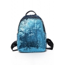 New Fashion Plain Sequined Mini School Bag Backpack with Zippers 30*11*40 CM