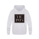 Trendy Rock Style Square Letter THE 1975 Printed Long Sleeve Pullover Hoodie
