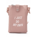 Fashion Letter Printed PU Leather Crossbody Cell Phone Purse 13*2*19 CM