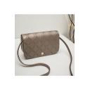 Fashion Rhombus Check Embossed Design Square Crossbody Bag 17*5*10 CM