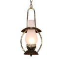 Kitchen Curved Hanging Light Metal and Glass Industrial White Pendant Lighting