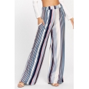New Fashion Popular Vertical Stripe Printed Wide-Leg Casual Pants for Women