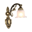 Up & Down Lighting Flower Sconce Light 1/2 Lights Elegant Wall Lamp for Living Room Kitchen