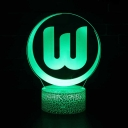 Boys Girls Gift LED Night Light 7 Color Changing Touch Sensor Soccer Element Pattern 3D Night Light with Touch Sensor